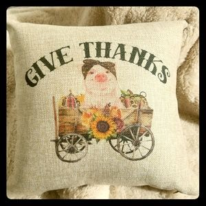 Other - Give Thanks Throw Pillow